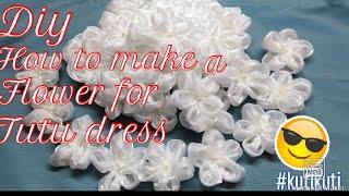 #Diy #flowerfortutudress  #kutikuti   How To Make Flower For Tutu Dress /DIY