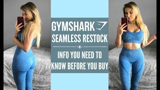 GYMSHARK HAUL Seamless RESTOCK | INFO YOU SHOULD KNOW | Cute Gym Clothes Haul/ Try On/ Review