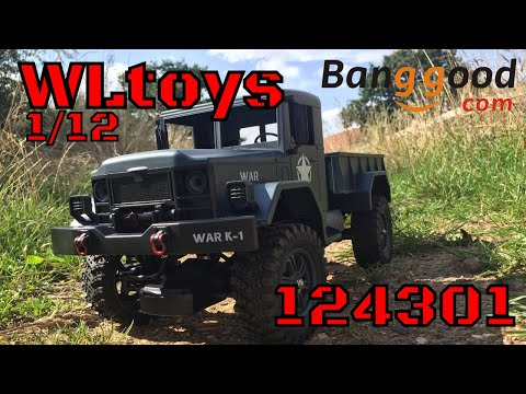 WLtoys 124301 1/12 Scale Military RC Truck! Budget Review. Banggood