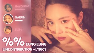 Apink - %% Eung Eung (Line Distribution + Color Coded Lyrics) PATREON REQUESTED