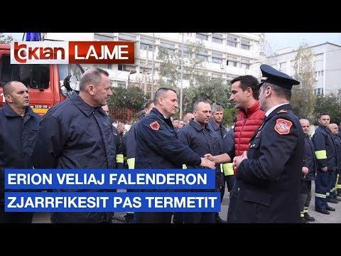 Erion Veliaj falenderon zjarrfikësit pas termetit