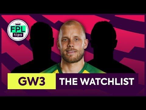 GW3: FPL WATCHLIST | Gameweek 3 | Fantasy Premier League Tips 2019/20