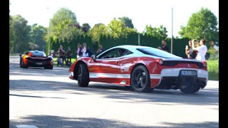 Cars & Coffee München 2019/ Drifts, Powerslides, Revs,/ Chiron, Stirling Moss, N-Largo, Agera R, P1