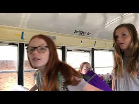 Video: Holston students exit bus Monday