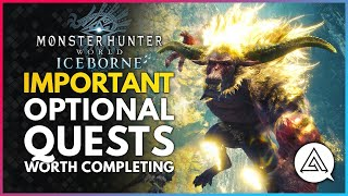 Monster Hunter World Iceborne   All Important Optional Quests You Should Probably Complete