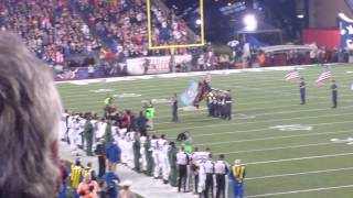 Joey McIntyre singing national anthem patriots gme