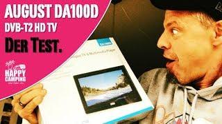 DVBT2 Empfang mit dem August DA100D HDTV | HAPPY CAMPING