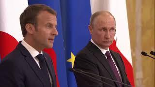 Совместная пресс-конференция сПрезидентом Франции Эммануэлем Макроном