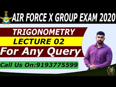 AIR FORCE X/Y- GROUP / NAVY /AA  | MATH  BY ROBIN SIR  | TRIGONOMETRY 02 | CADETS DEFENCE ACADEMY