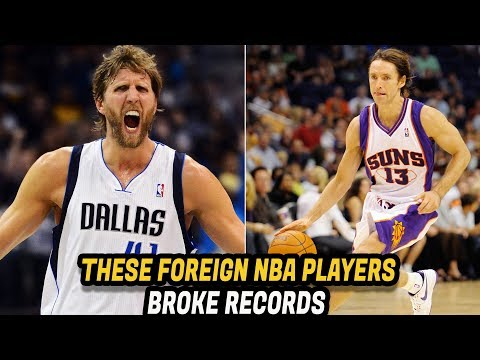 FOREIGN NBA Players That Have NBA Records! Dirk, Hakeem, Steve Nash, Giannis