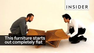 This Designer Makes Pop Up Furniture That Starts Completely Flat