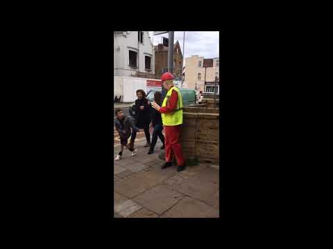 mannequin-man performming as a Living Mannequin: Living mannequin for a day in Kingston-upon-Thames  for Kenneth Gee Workwear on 23/09/2017