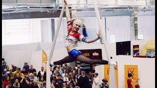 Harley Quinn Comic Con Göteborg Aerial Silks Performance | VALKYRIE