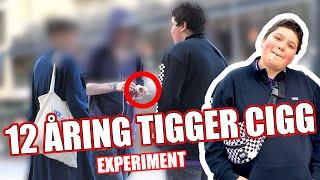 12 ÅRING TIGGER CIGG EXPERIMENT!
