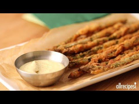 How to Make Fried Asparagus Sticks   Appetizer Recipes   Allrecipes.com