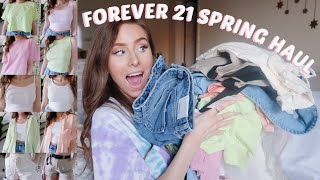 FOREVER 21 SPRING & SUMMER TRY ON HAUL | AFFORDABLE CLOTHES!