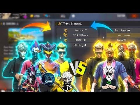 ANKUSH FF,TONDE GAMER SQUAD VS LAKA GAMER SQUAD // 4 VS 4 BIGGEST CLASH EVER // WHO WON??
