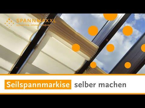 Seilspannmarkise selber machen   günstig kaufen   SPANNMAXXL