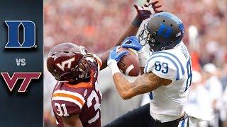Duke vs Virginia Tech Football Highlights (2015)