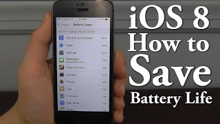 Save Battery Life in iOS 8 – Top 10 Tips & Tricks