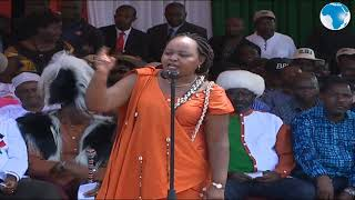 Governor Waiguru leads residents of Meru in the One Man chant