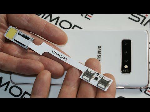 Galaxy S10+ Dual SIM Adapter Android - Convert single SIM S10+ to Dual SIM or Triple SIM with SIMore