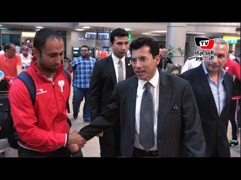 وزير الرياضة يستقبل أبطال مصر في الألعاب الفردية: «الفراعنة شرفونا في أسبانيا»