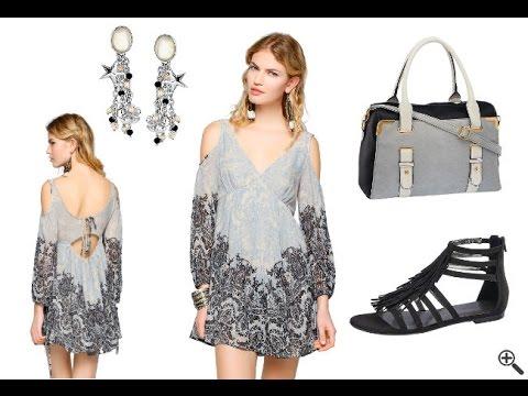 Kurzes Babydoll Kleid mit Langarm Ärmeln + Outfit Ideen
