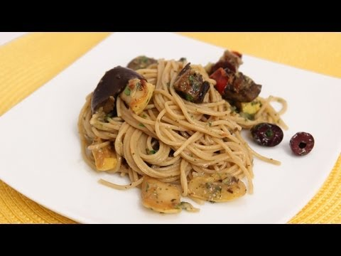 Spaghetti with Roasted Veggies – Laura Vitale – Laura in the Kitchen Episode 642