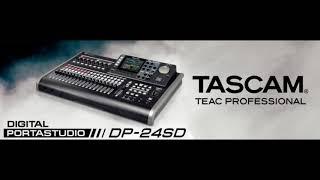 TASCAM DP 24SD PORTASTUDIO AUDIO TEST