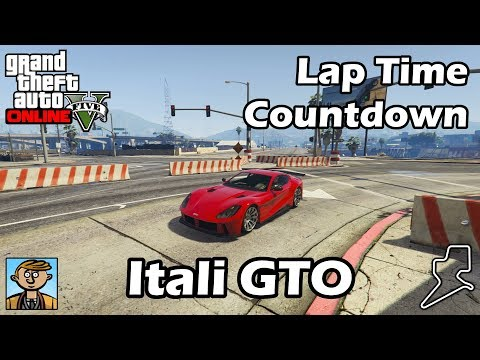 Fastest Sports Cars (Itali GTO) - GTA 5 Best Fully Upgraded Cars Lap Time Countdown