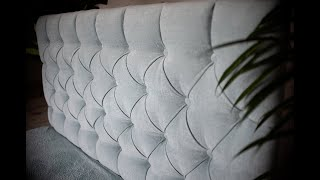 How to Make a Tufted Headboard , Upholstery Diamond Tufting