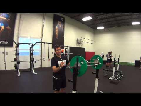 Trap bar shoulder press