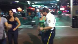 Awesome Dancing Security Guard! - Orlando City Walk Gathering