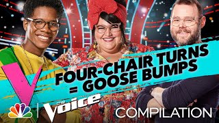 Ten of the Best Four-Chair Turns - The Voice 2020