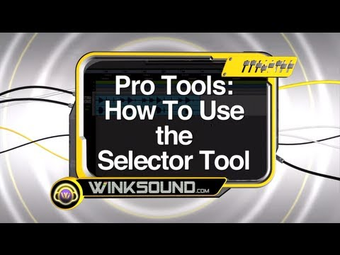 Pro Tools: How To Use the Selector Tool   WinkSound