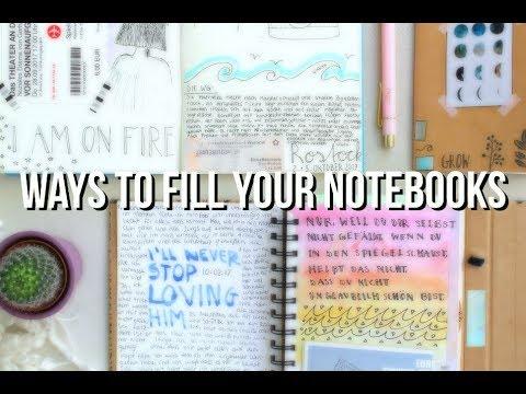 WAYS TO FILL YOUR NOTEBOOKS - Inspiration für alte Notizbücher | livingkatti