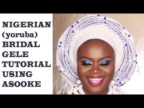BRIDAL GELE TUTORIAL USING ASOOKE (beginner friendly).