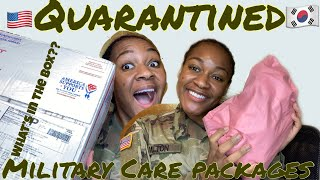 Unboxing Military Care Packages (Quarantined)