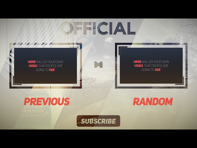 Clean Free 2d Outro Template free after effects intro free 2d intro - free outro template