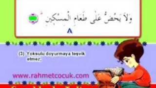 Çocuklarla Kur'an Talimi - Maun Suresi