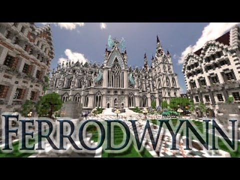 Ferrodwynn Towncenter Huge medieval city Download + Video Minecraft Map