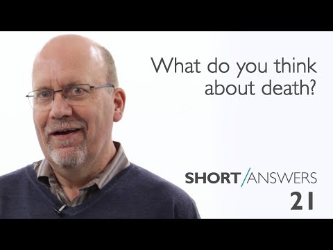 What do you think about death?  |  David Robertson