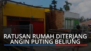 Ratusan Rumah Porak-poranda Diterjang Angin Puting Beliung di Deliserdang