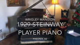 1929 Steinway Player Piano @ Wrigley Mansion Playing Rhapsody in Blue