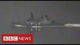 BBC показало видео с борта британского эсминца возле Крыма