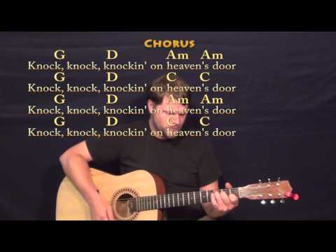 Knocking On Heaven's Door (Bob Dylan) Strum Guitar Cover Lesson With Lyrics Mp3