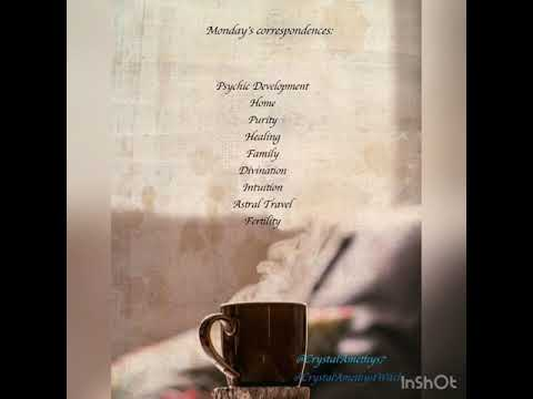 Correspondence days of the week for witches, pagans, wiccans and witchcraft