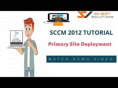 MICROSOFT SCCM Tutorial | System Center 2012 Primary Site ...