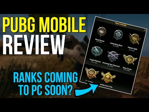 PUBG Mobile Review – RANKS COMING TO PC SOON? – PUBG News